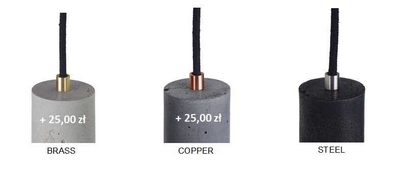 kolory wykończeń metalowych lamp kalla