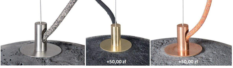 kolory wykończeń metalowych dla lamp