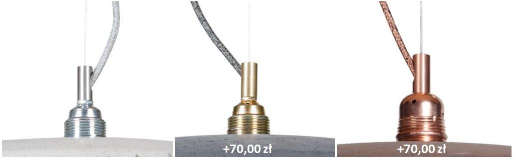 kolory wykończeń metalowych dla lampy lotna